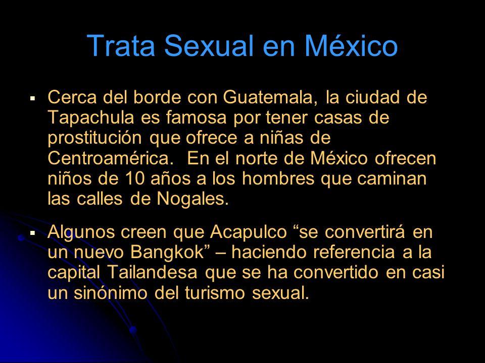 Trata Sexual en México