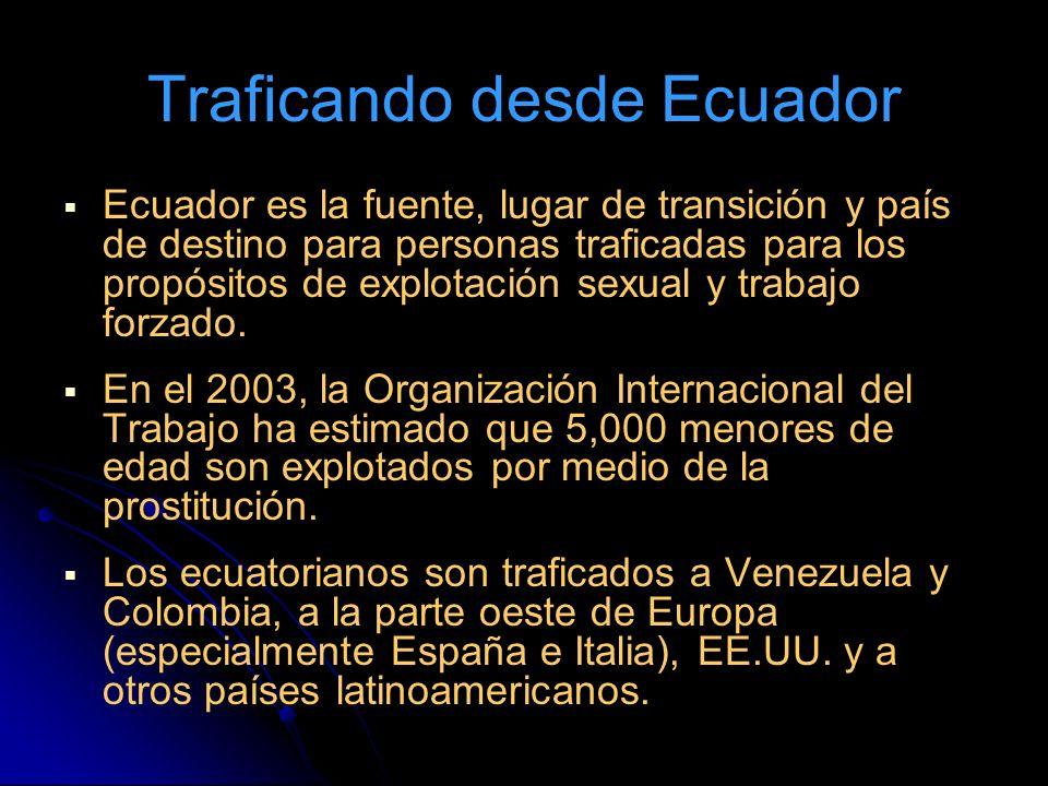 Traficando desde Ecuador