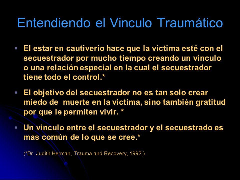 Entendiendo el Vinculo Traumático