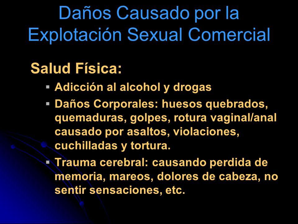 Daños Causado por la Explotación Sexual Comercial