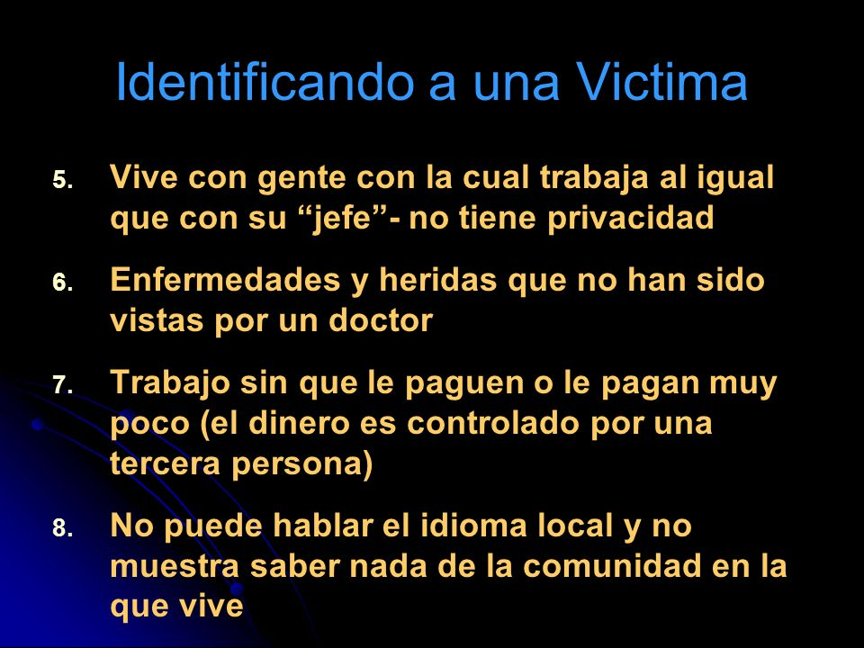 Identificando a una Victima
