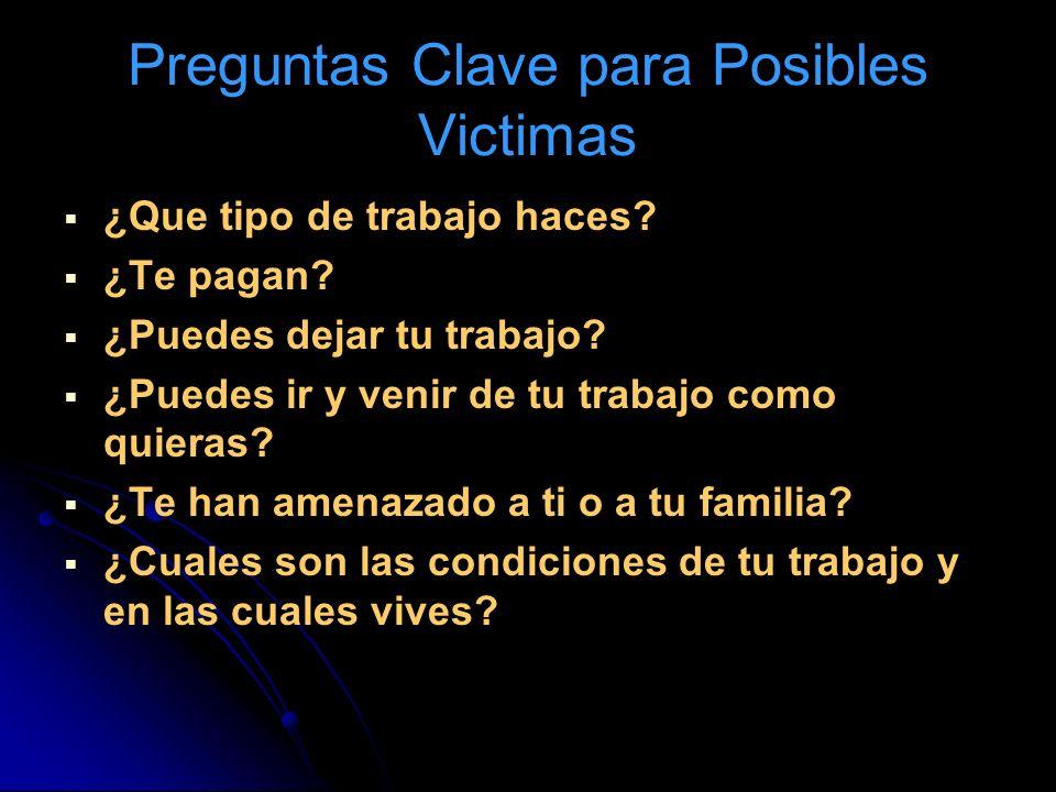 Preguntas Clave para Posibles Victimas