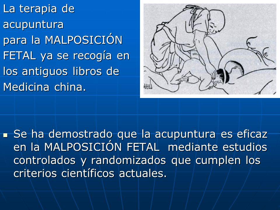 La terapia de acupuntura. para la MALPOSICIÓN. FETAL ya se recogía en. los antiguos libros de. Medicina china.