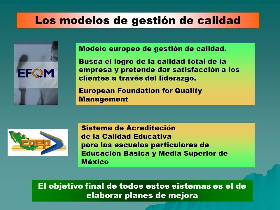 Los modelos de gestión de calidad