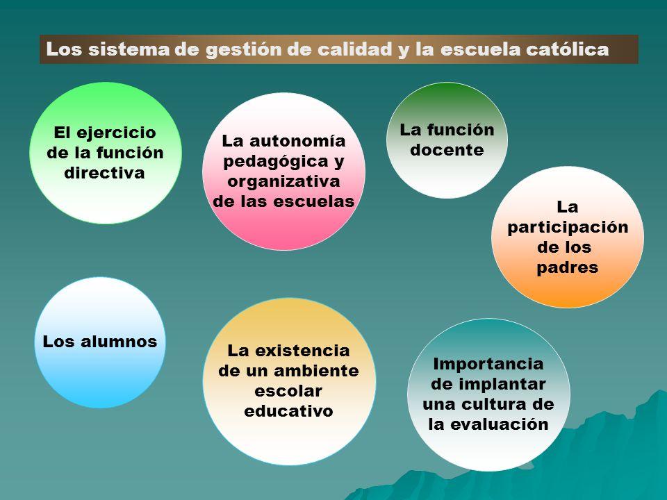Los sistema de gestión de calidad y la escuela católica