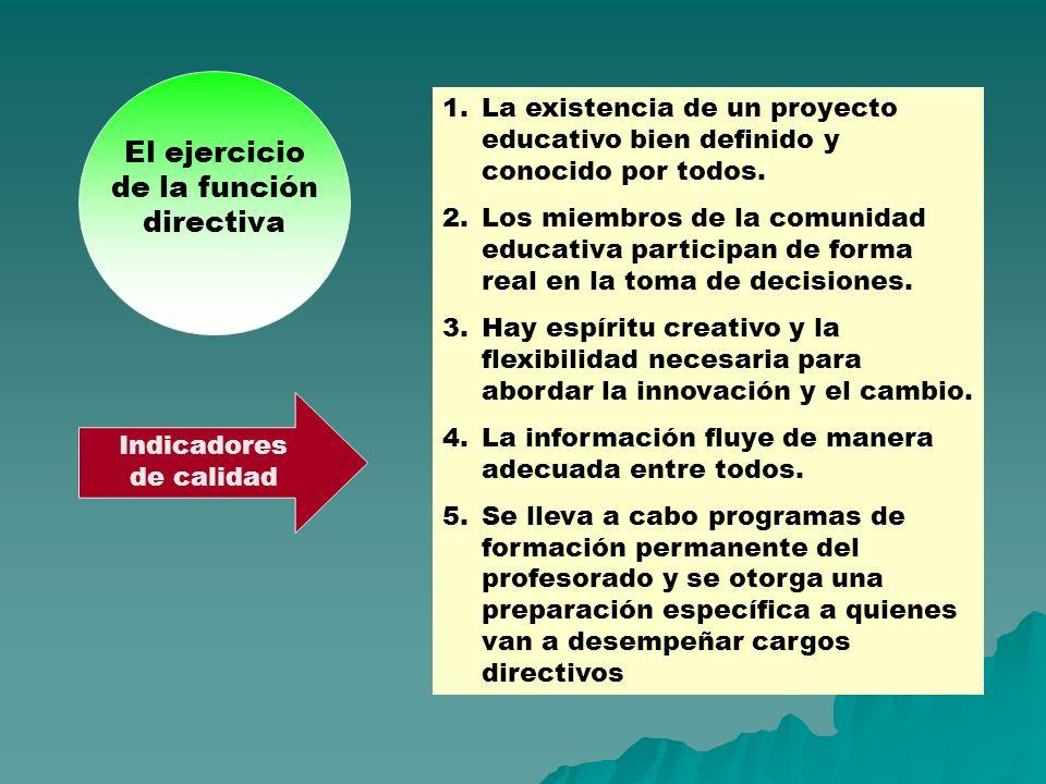 El ejercicio de la función directiva
