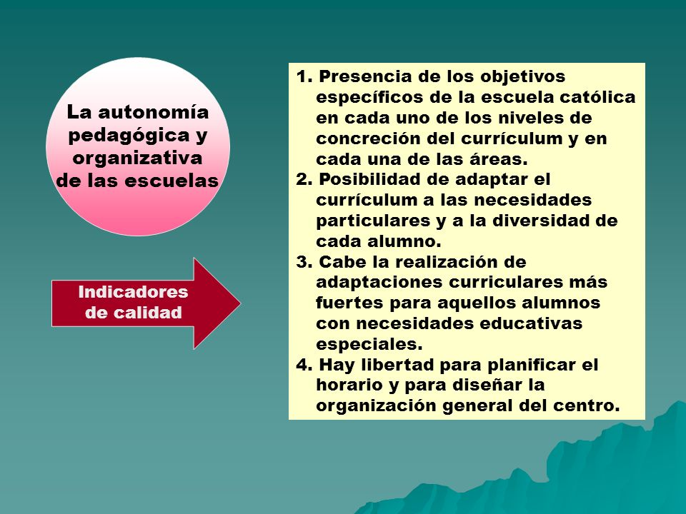 La autonomía pedagógica y organizativa de las escuelas
