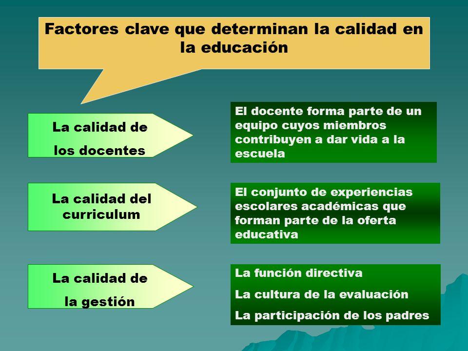 Factores clave que determinan la calidad en la educación