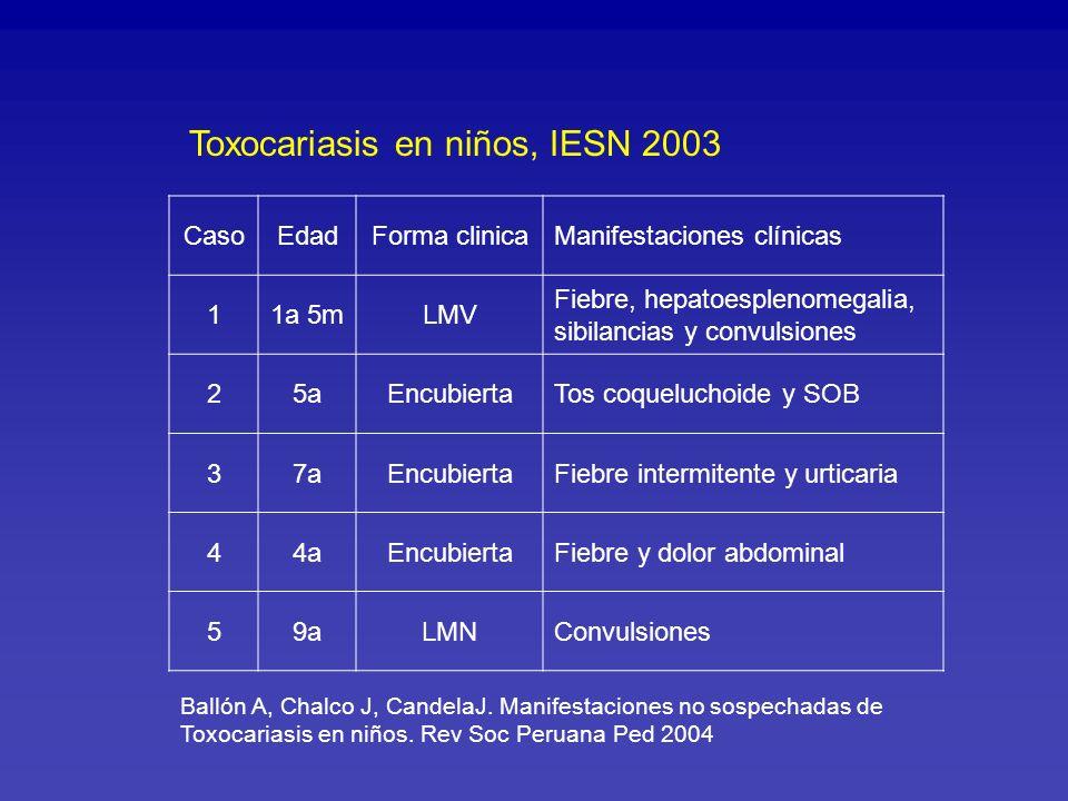 Toxocariasis en niños, IESN 2003