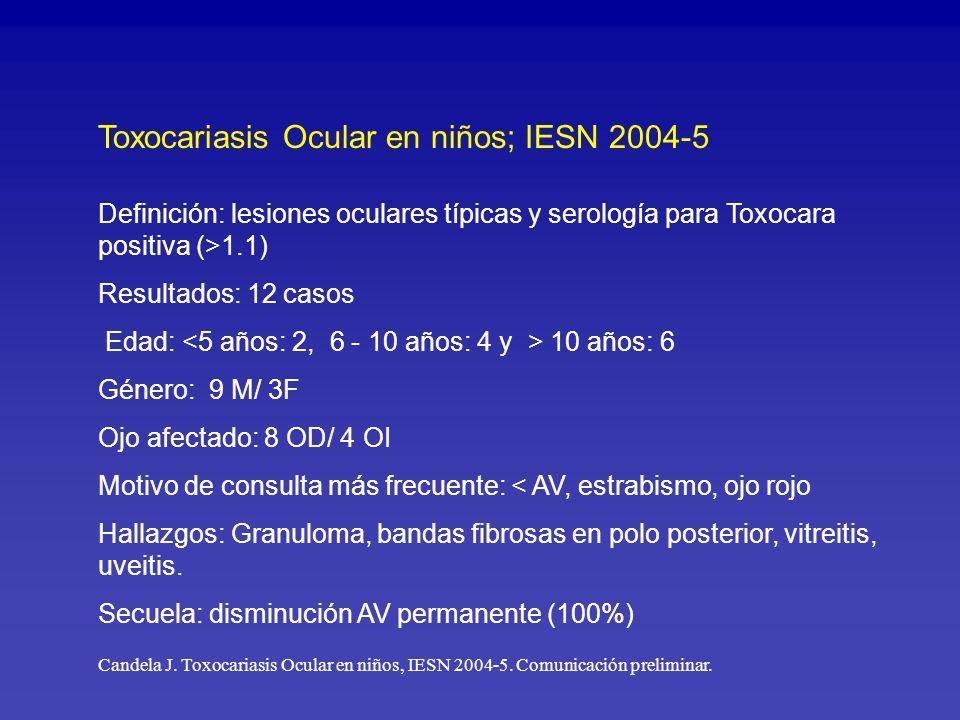 Toxocariasis Ocular en niños; IESN 2004-5