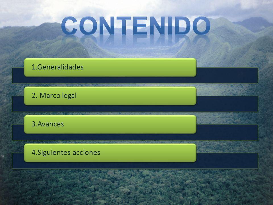 Contenido 1.Generalidades 2. Marco legal 3.Avances