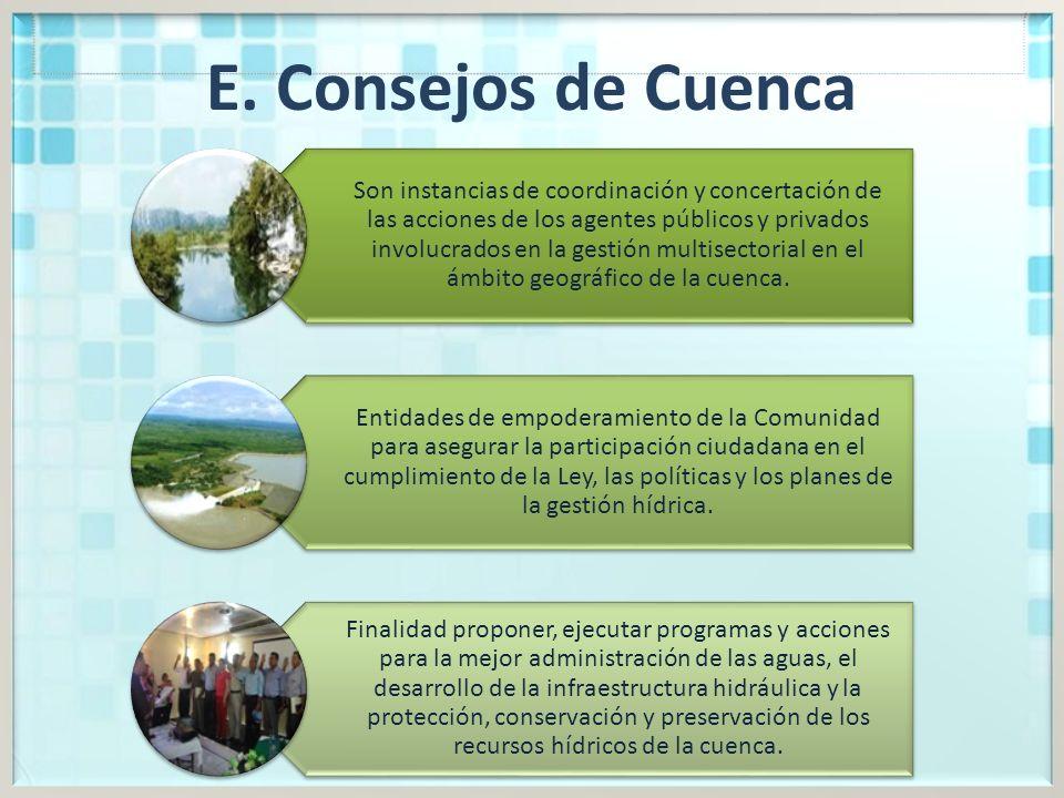 E. Consejos de Cuenca