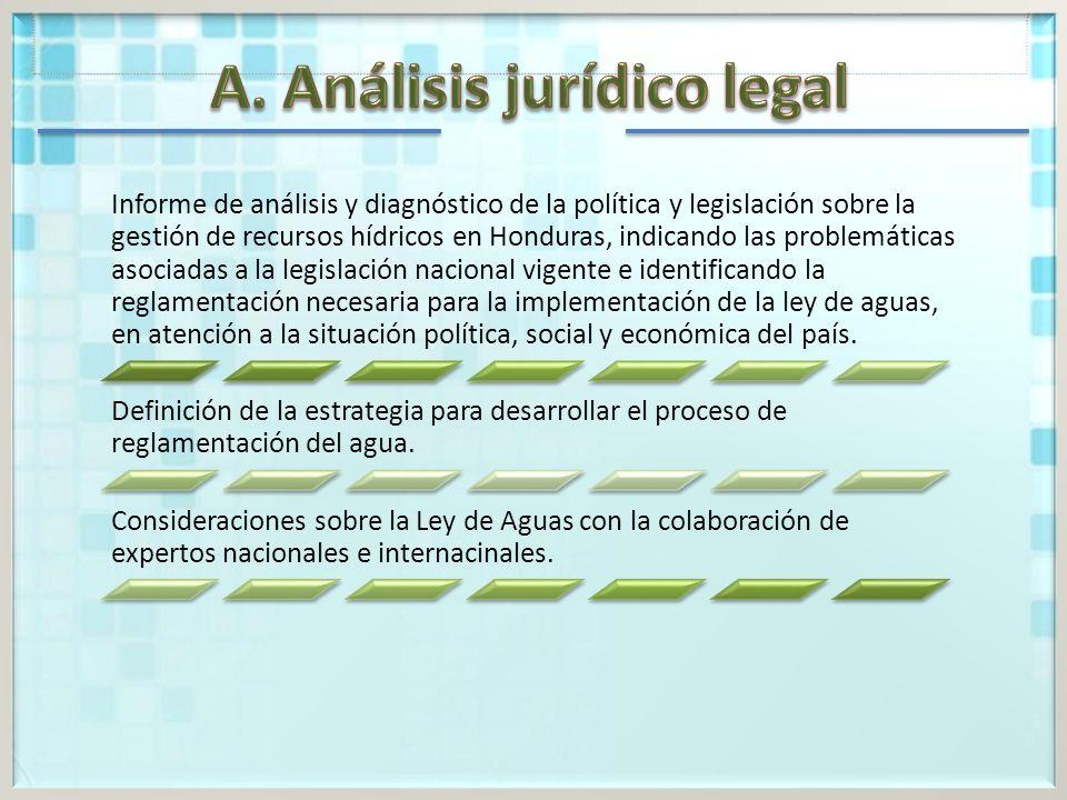 A. Análisis jurídico legal