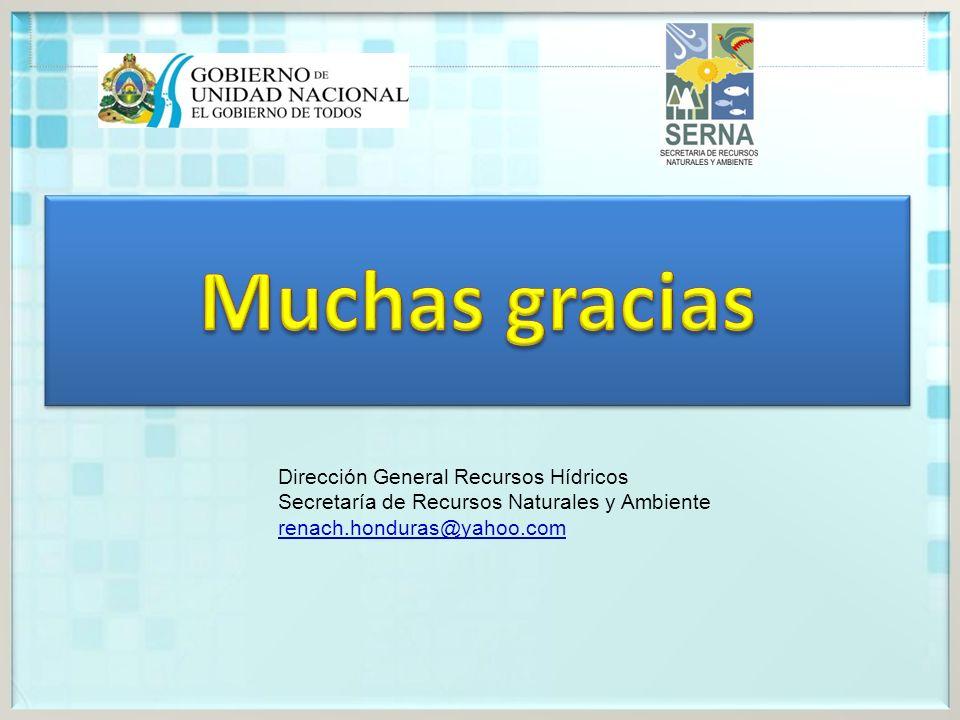 Muchas gracias Dirección General Recursos Hídricos