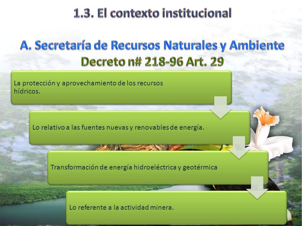 1. 3. El contexto institucional A