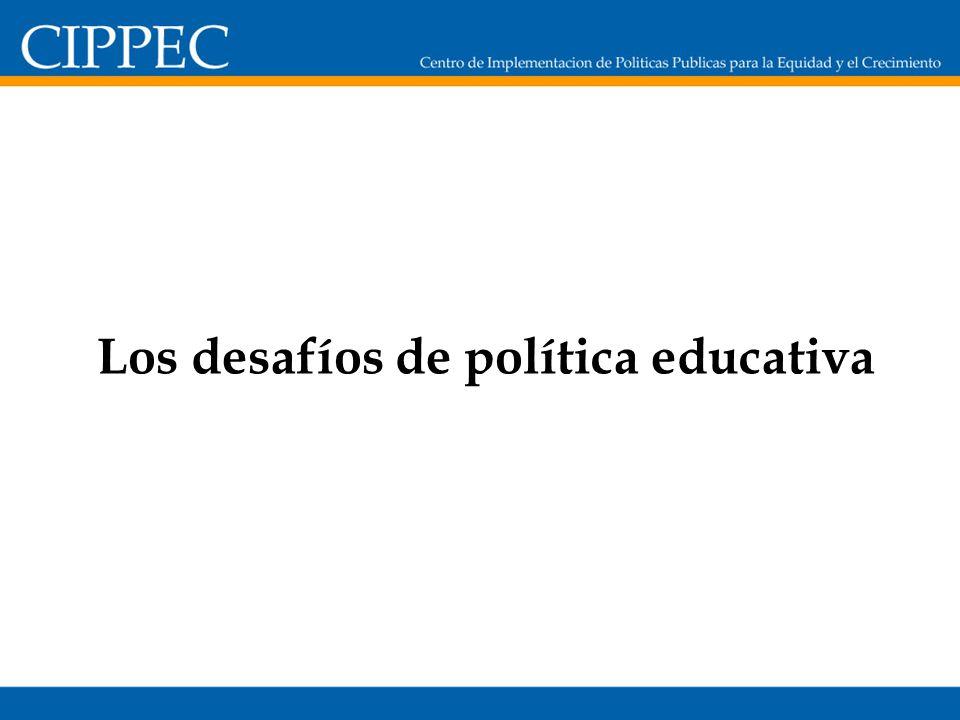 Los desafíos de política educativa
