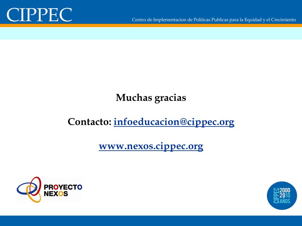 Contacto: infoeducacion@cippec.org