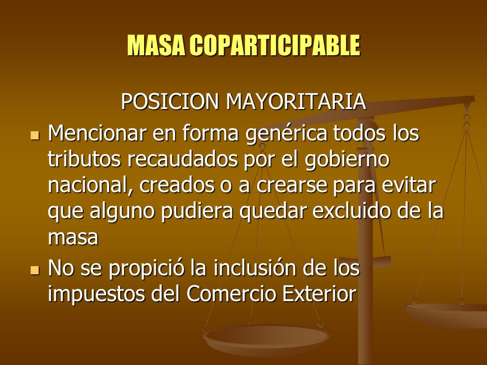 MASA COPARTICIPABLE POSICION MAYORITARIA