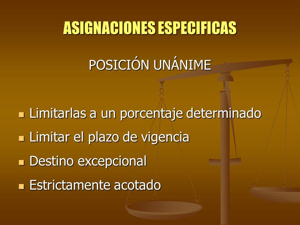 ASIGNACIONES ESPECIFICAS