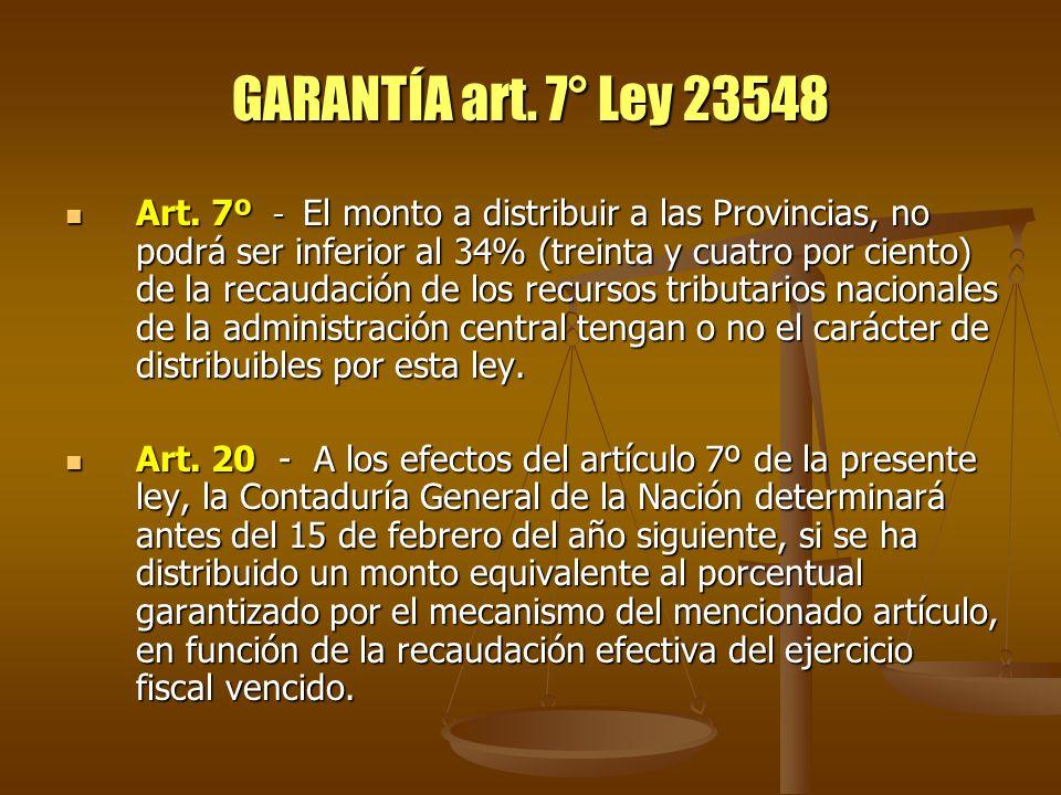 GARANTÍA art. 7° Ley 23548