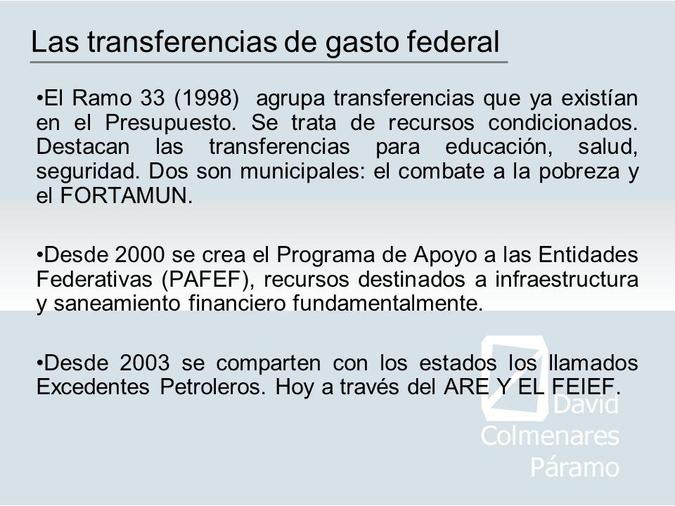 Las transferencias de gasto federal
