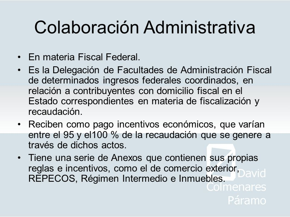 Colaboración Administrativa