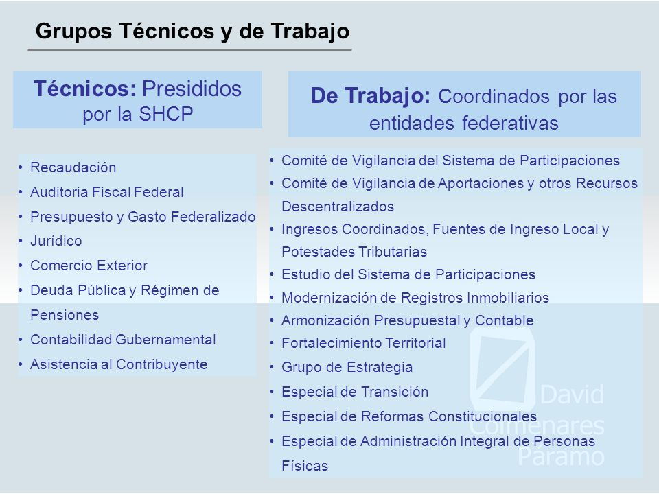 Grupos Técnicos y de Trabajo