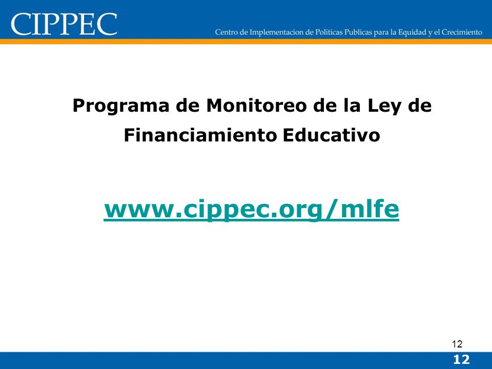 Programa de Monitoreo de la Ley de Financiamiento Educativo
