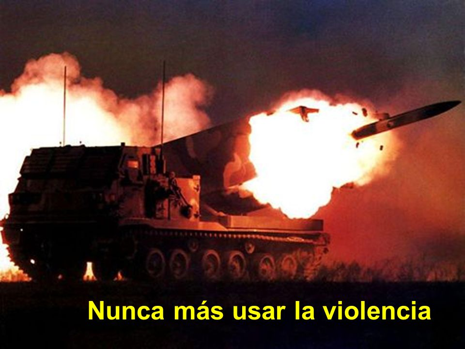 Nunca más usar la violencia