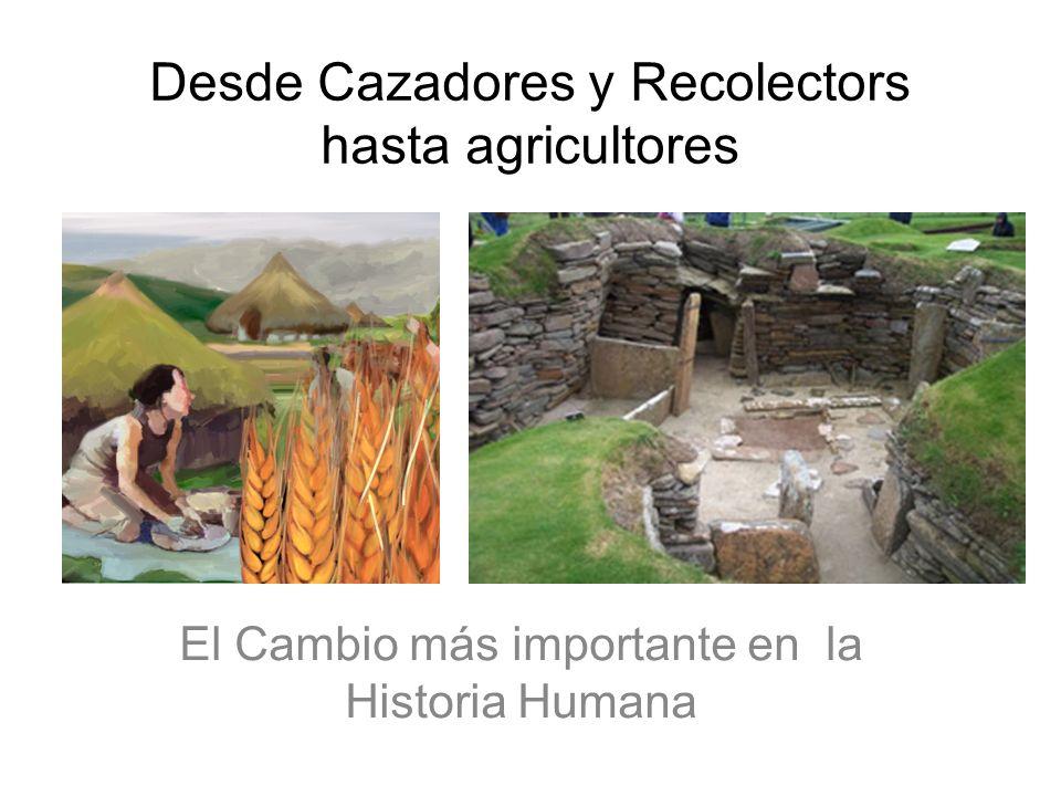 Desde Cazadores y Recolectors hasta agricultores