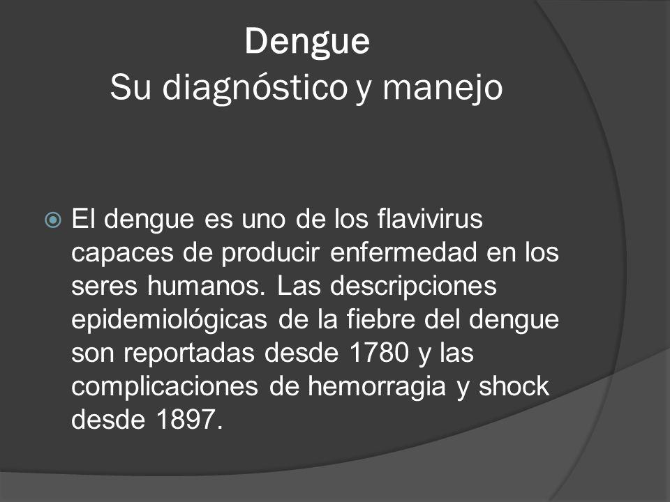 Dengue Su diagnóstico y manejo