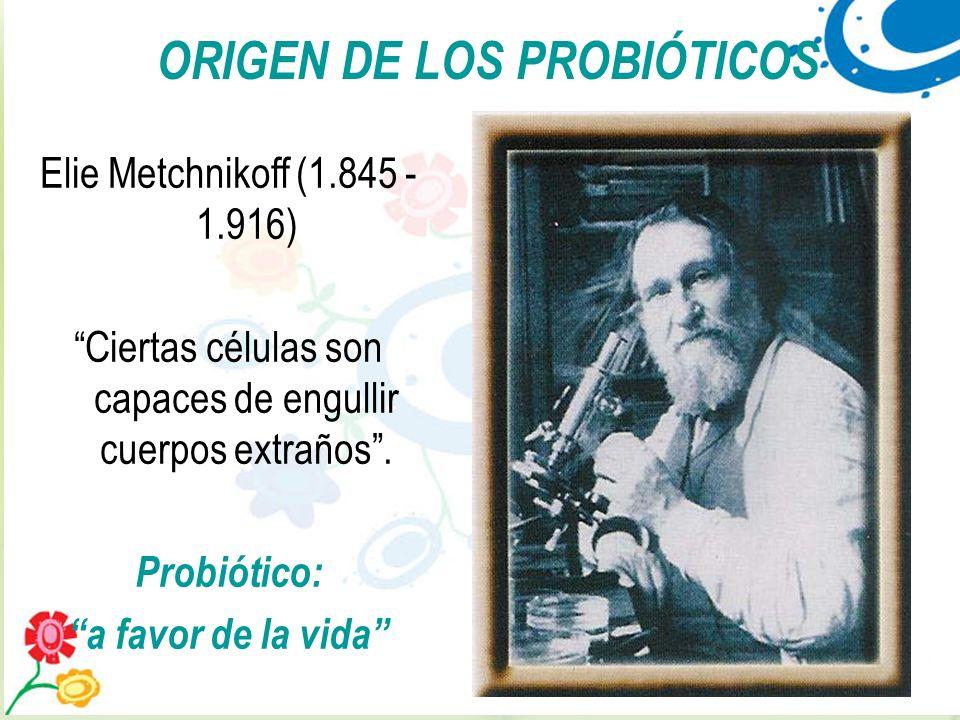 ORIGEN DE LOS PROBIÓTICOS