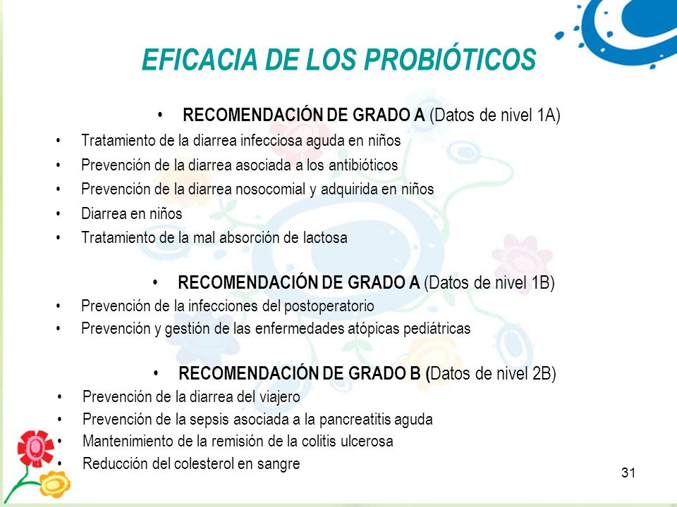 EFICACIA DE LOS PROBIÓTICOS