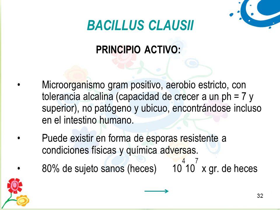 BACILLUS CLAUSII PRINCIPIO ACTIVO: