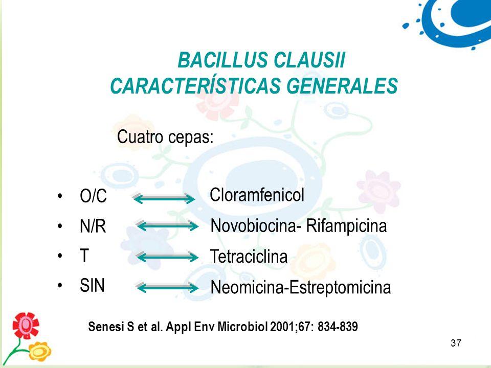 BACILLUS CLAUSII CARACTERÍSTICAS GENERALES