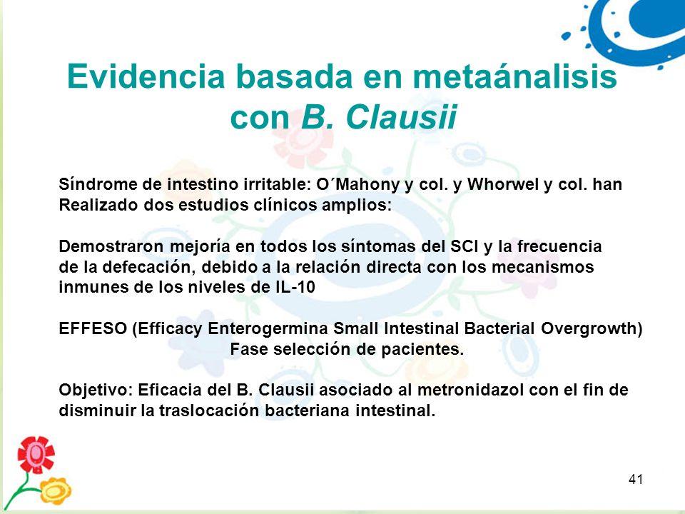 Evidencia basada en metaánalisis con B. Clausii