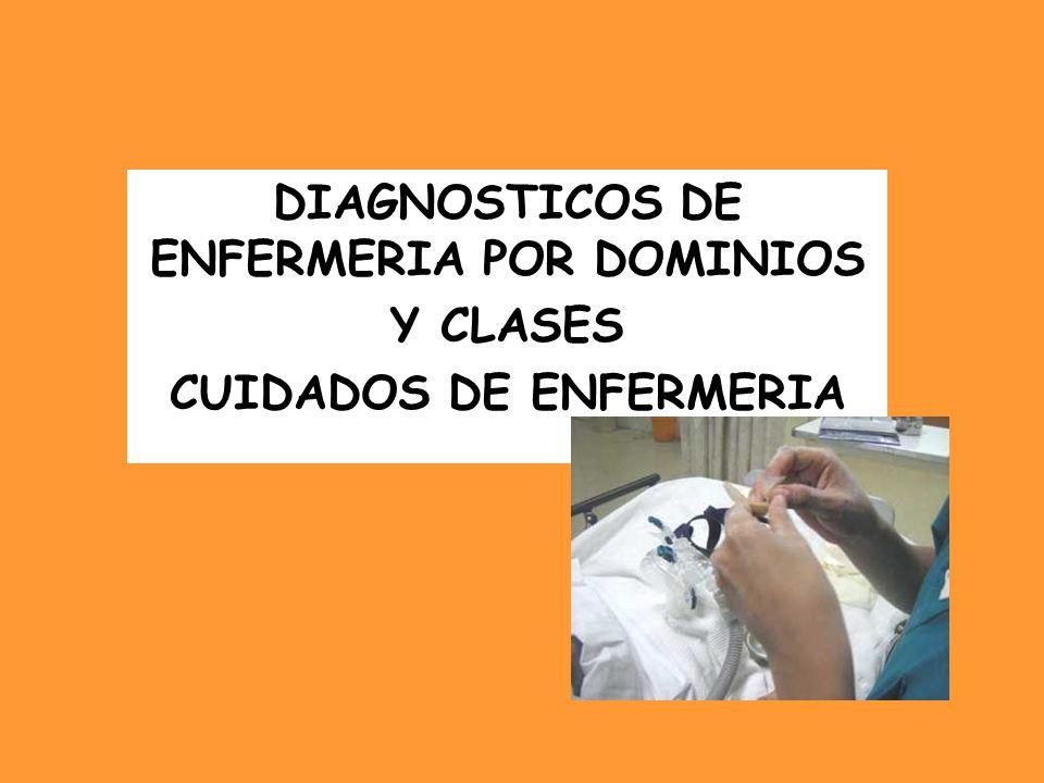 DIAGNOSTICOS DE ENFERMERIA POR DOMINIOS CUIDADOS DE ENFERMERIA