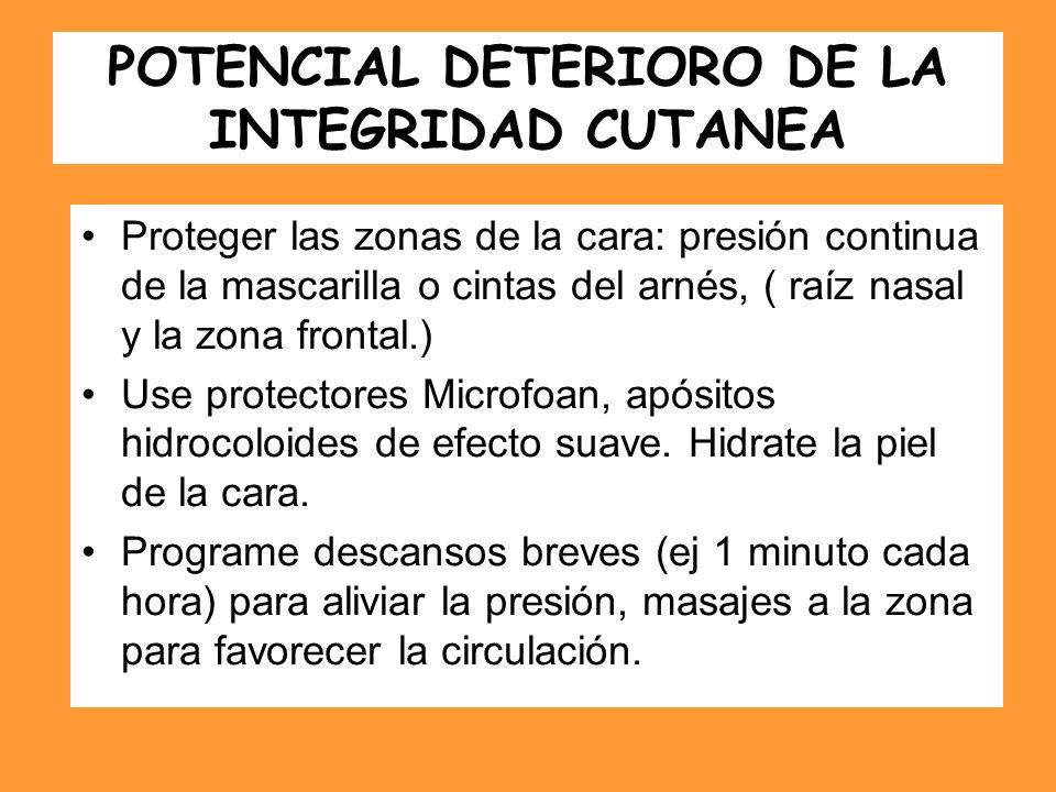 POTENCIAL DETERIORO DE LA INTEGRIDAD CUTANEA