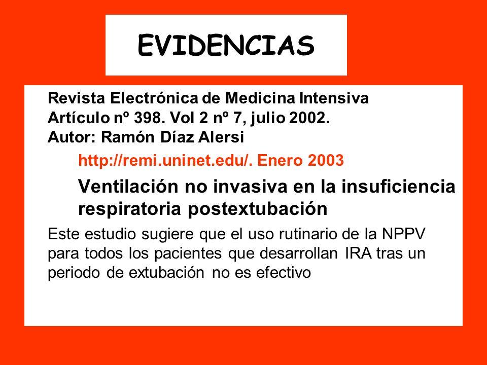 EVIDENCIAS http://remi.uninet.edu/. Enero 2003