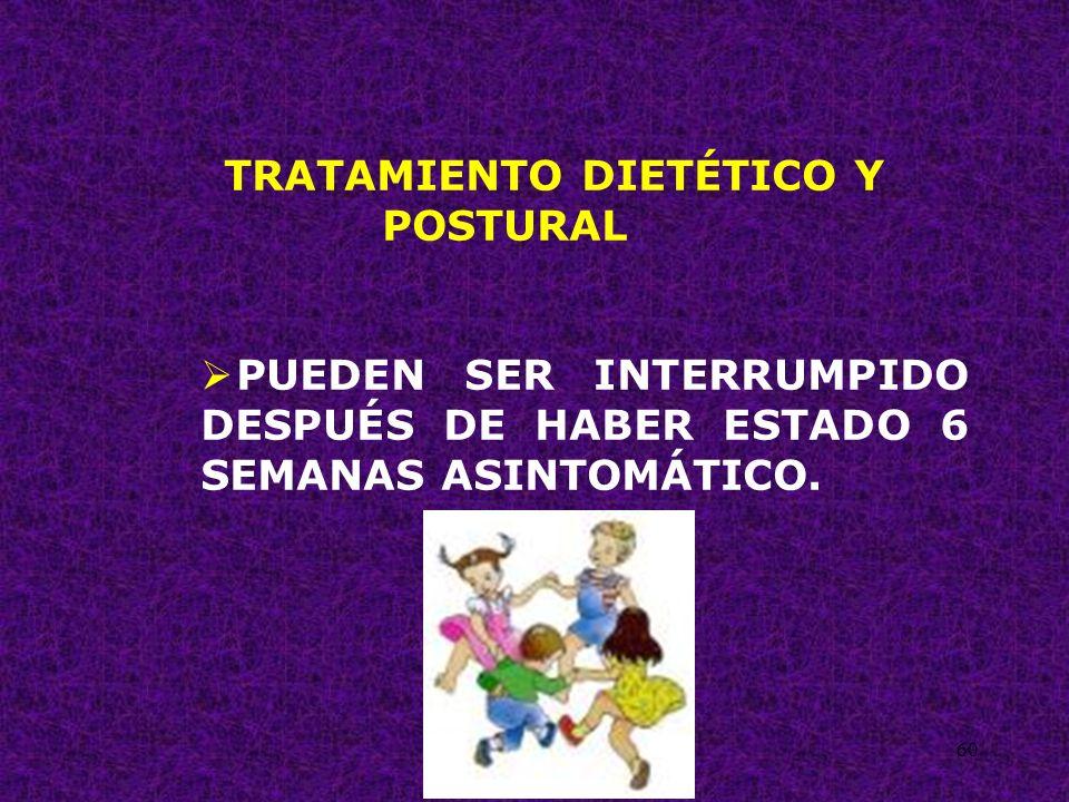 TRATAMIENTO DIETÉTICO Y POSTURAL