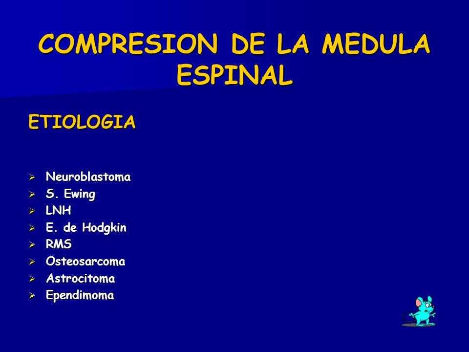 COMPRESION DE LA MEDULA ESPINAL