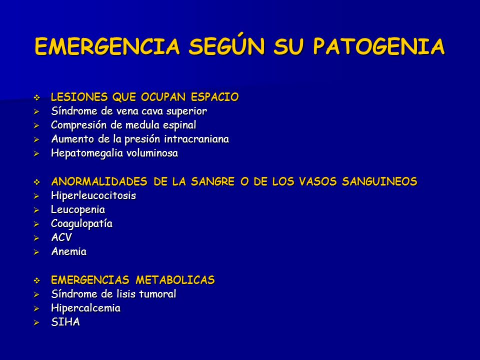 EMERGENCIA SEGÚN SU PATOGENIA