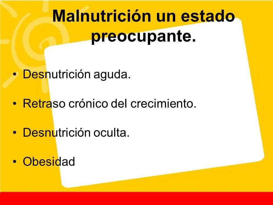 Malnutrición un estado preocupante.
