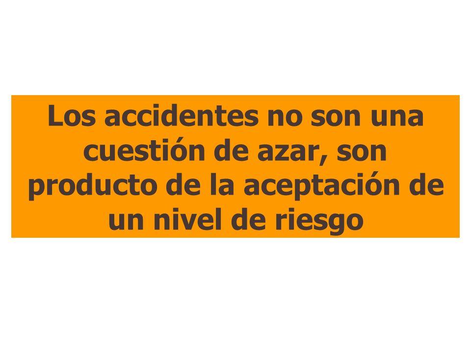 Los accidentes no son una cuestión de azar, son producto de la aceptación de un nivel de riesgo