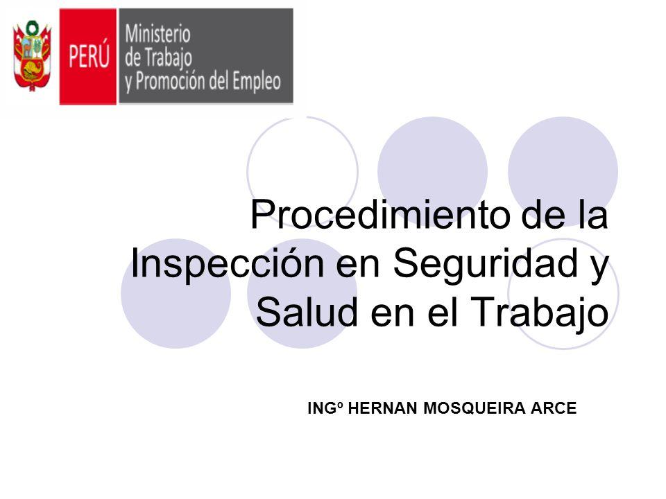 Procedimiento de la Inspección en Seguridad y Salud en el Trabajo