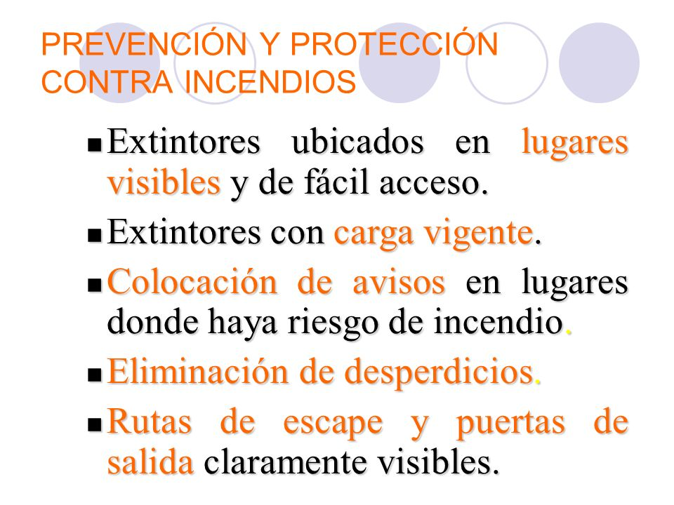 PREVENCIÓN Y PROTECCIÓN CONTRA INCENDIOS