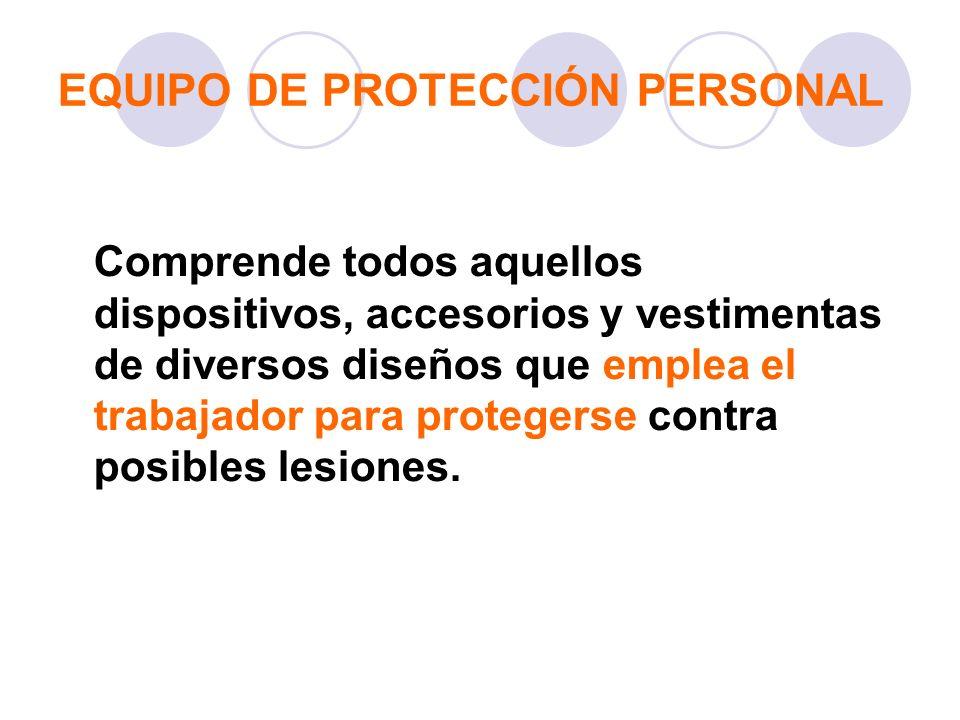 EQUIPO DE PROTECCIÓN PERSONAL