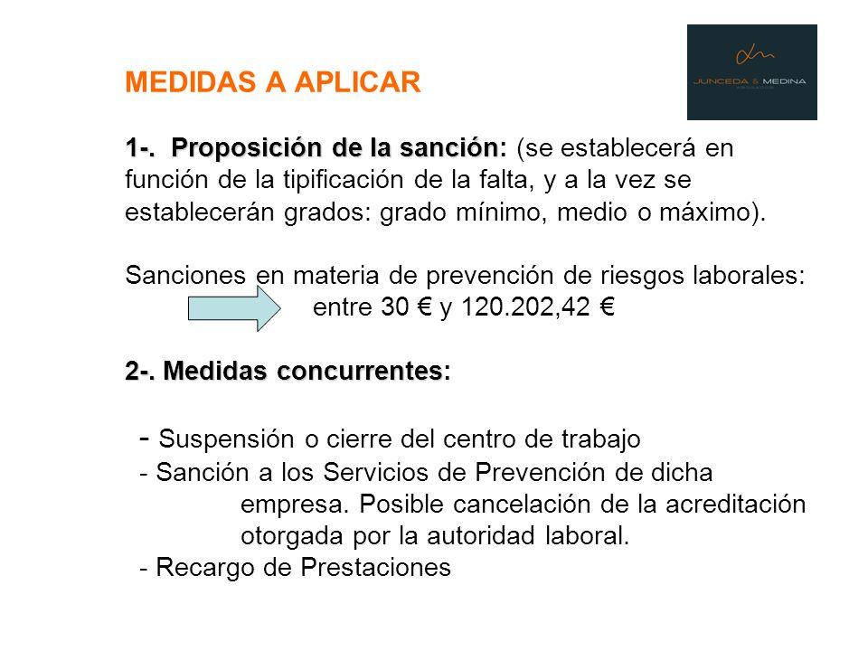 MEDIDAS A APLICAR 1-.
