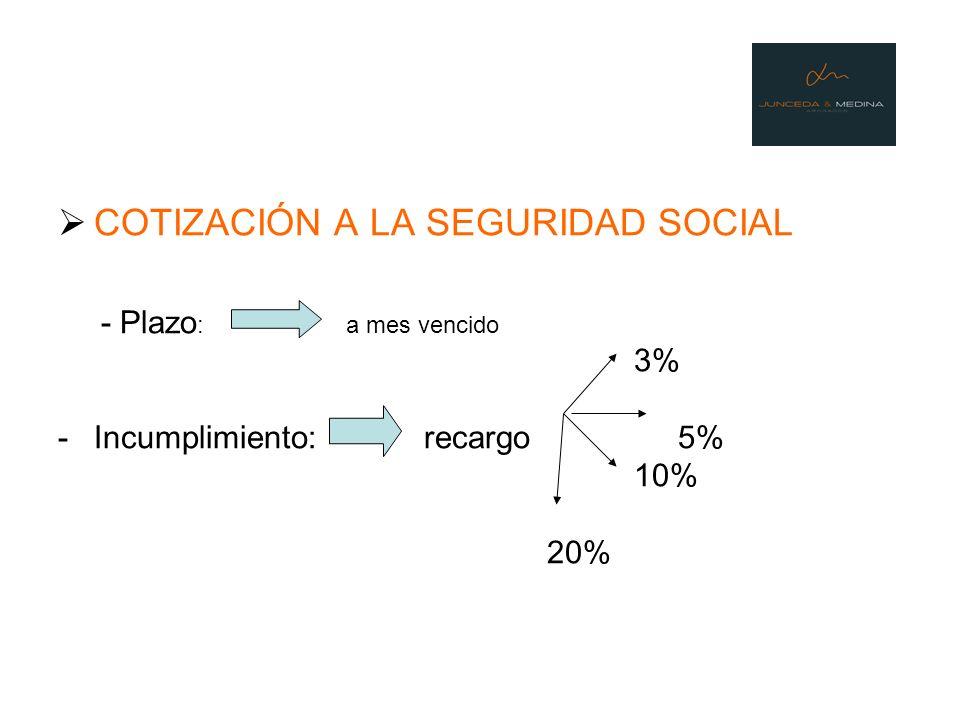 COTIZACIÓN A LA SEGURIDAD SOCIAL