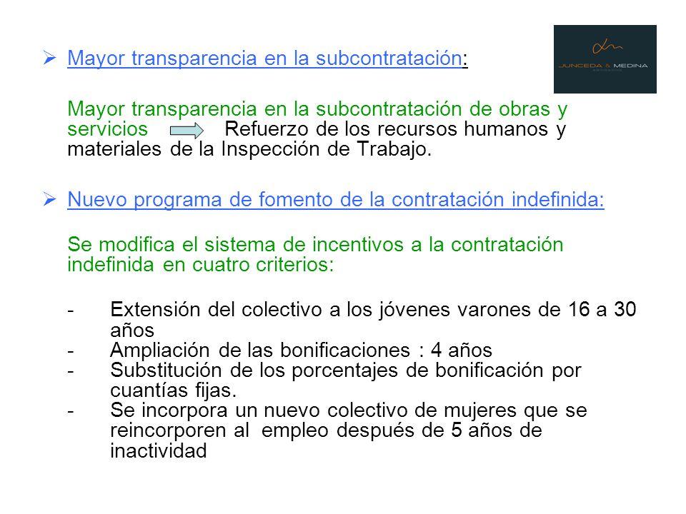 Mayor transparencia en la subcontratación: